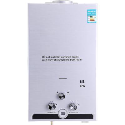 Valens 18L Scaldabagno a Gas LPG Riscaldatore di Acqua Istantaneo Senza Serbatoio a Gas Liquefatto Automatico